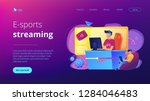 e sport gamer live streaming... | Shutterstock .eps vector #1284046483