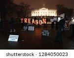 Small photo of Washington, DC/USA – January 12, 2019: The dedicated #KremlinAnnex protesters addressing Treason on their 181st consecutive night of demonstrating at the White House against Donald Trump.