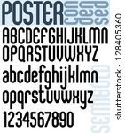 poster classic style font with... | Shutterstock .eps vector #128405360