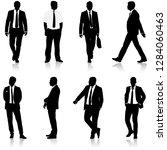 set silhouette businessman man... | Shutterstock .eps vector #1284060463