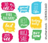 set of sale labels. hand drawn... | Shutterstock .eps vector #1284061660