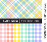 Pastel Rainbow Easter Tartan...