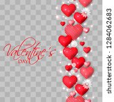 happy valentines day card... | Shutterstock .eps vector #1284062683