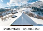 winter in romania traditional... | Shutterstock . vector #1284063550