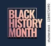 black history month logo design.... | Shutterstock .eps vector #1284072490