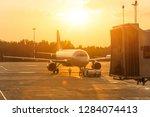 Passenger Airplane During Push...