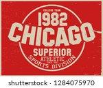 vintage varsity vector graphics ... | Shutterstock .eps vector #1284075970