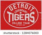 vintage varsity vector graphics ... | Shutterstock .eps vector #1284076003