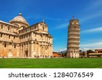leaning tower of pisa in... | Shutterstock . vector #1284076549