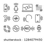 voice recognition icons.... | Shutterstock .eps vector #1284079450