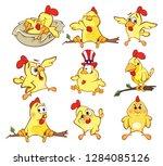 illustration of a set of cute... | Shutterstock . vector #1284085126
