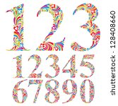 Floral Colorful Numbers Set ...