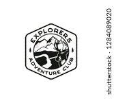 explorers logo emblem. vintage... | Shutterstock .eps vector #1284089020