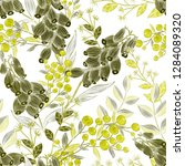 seamless pattern with hand... | Shutterstock . vector #1284089320