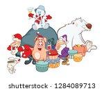 illustration of a santa claus... | Shutterstock . vector #1284089713