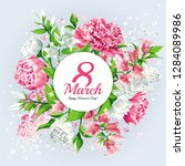 8 march women's day greeting... | Shutterstock .eps vector #1284089986