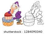 illustration of santa claus .... | Shutterstock . vector #1284090340