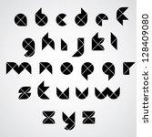 digital style simple geometric... | Shutterstock .eps vector #128409080