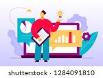 vector flat style business and... | Shutterstock .eps vector #1284091810