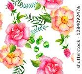 seamless watercolor pattern of... | Shutterstock . vector #1284092476