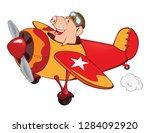illustration of a cute pig... | Shutterstock . vector #1284092920