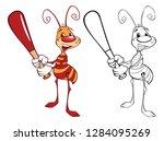 llustration of a cute little... | Shutterstock . vector #1284095269