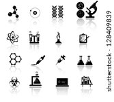 chemistry and science icon set | Shutterstock .eps vector #128409839