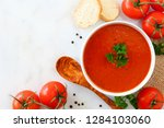 homemade tomato soup. above... | Shutterstock . vector #1284103060