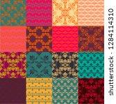 seamless vintage patterns.... | Shutterstock .eps vector #1284114310