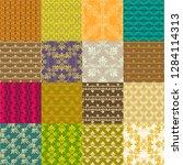 seamless vintage patterns.... | Shutterstock .eps vector #1284114313