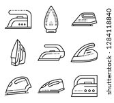 smoothing iron icons set.... | Shutterstock .eps vector #1284118840