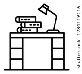 homework table icon. outline... | Shutterstock .eps vector #1284119116