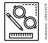 homework tool icon. outline... | Shutterstock .eps vector #1284119179