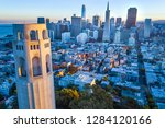 coit tower and san francisco... | Shutterstock . vector #1284120166