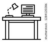 pc homework table icon. outline ... | Shutterstock .eps vector #1284120286
