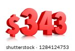 343  three hundred and forty... | Shutterstock . vector #1284124753