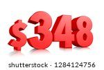 348  three hundred and forty... | Shutterstock . vector #1284124756