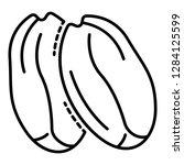 tasty peanut icon. outline... | Shutterstock .eps vector #1284125599