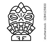 ritual idol icon. outline... | Shutterstock .eps vector #1284125833