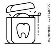 medical floss icon. outline... | Shutterstock .eps vector #1284126400
