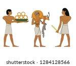 ancient egypt set of... | Shutterstock .eps vector #1284128566
