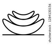 slice of aloe icon. outline... | Shutterstock .eps vector #1284130156