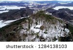 drone aerial view of winter... | Shutterstock . vector #1284138103