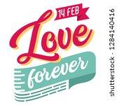 love forever hand drawn...   Shutterstock .eps vector #1284140416