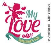 my love  valentine's day...   Shutterstock .eps vector #1284140509