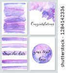 set of hand painted cards.... | Shutterstock .eps vector #1284142336