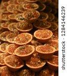 green peanut cakes | Shutterstock . vector #1284146239