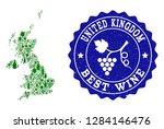 vector collage of wine map of...   Shutterstock .eps vector #1284146476