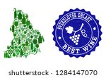 vector collage of wine map of... | Shutterstock .eps vector #1284147070