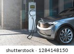 Charging An Ev Electric Suv In...